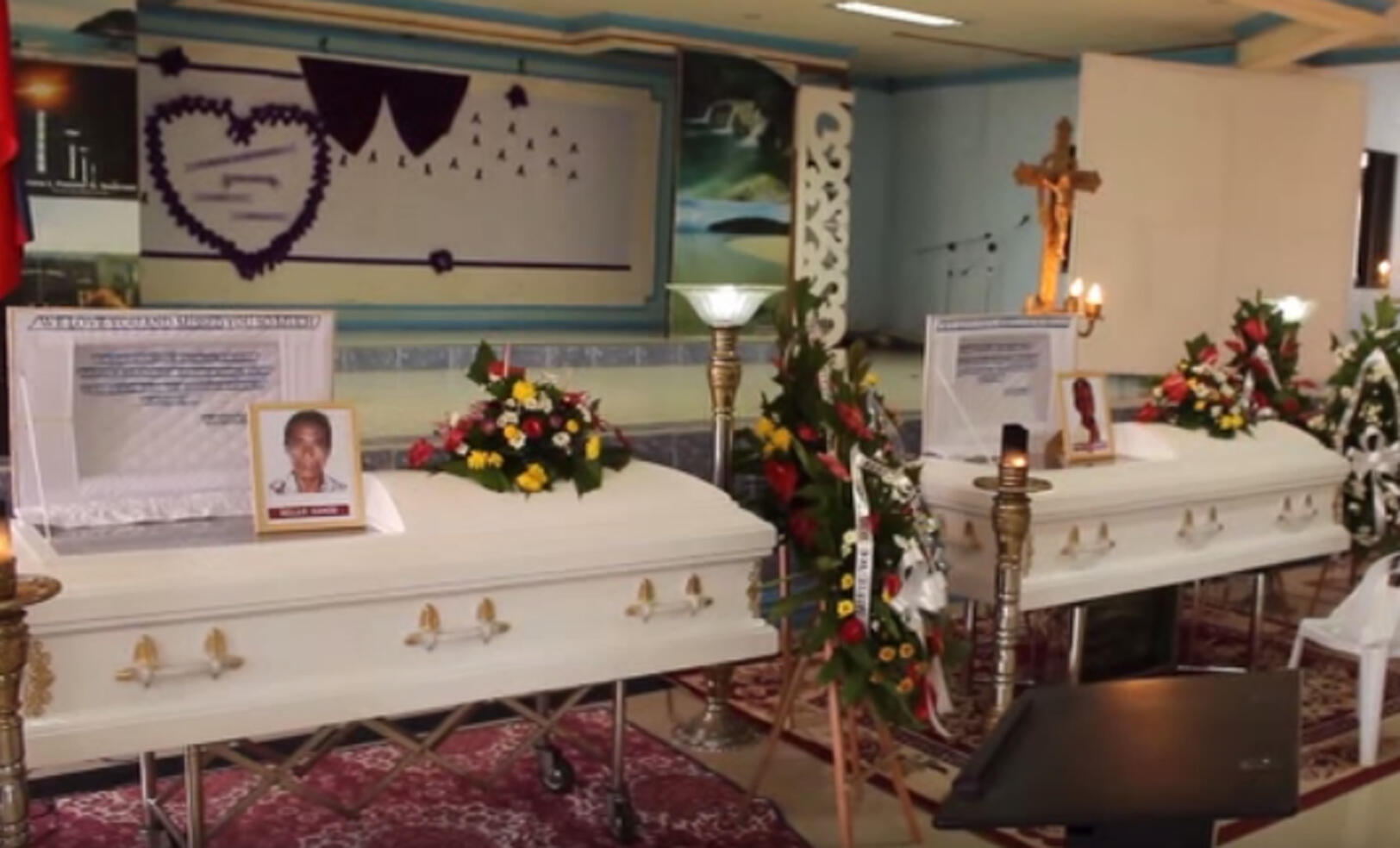 The caskets of the activists killed in Lianga.