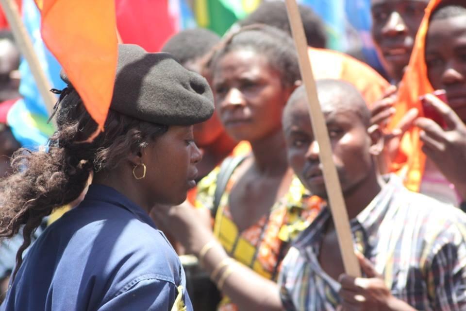 Un rassemblement pro-Kabila à Goma le 7 octobre. Photo 100 journalistes citoyens.