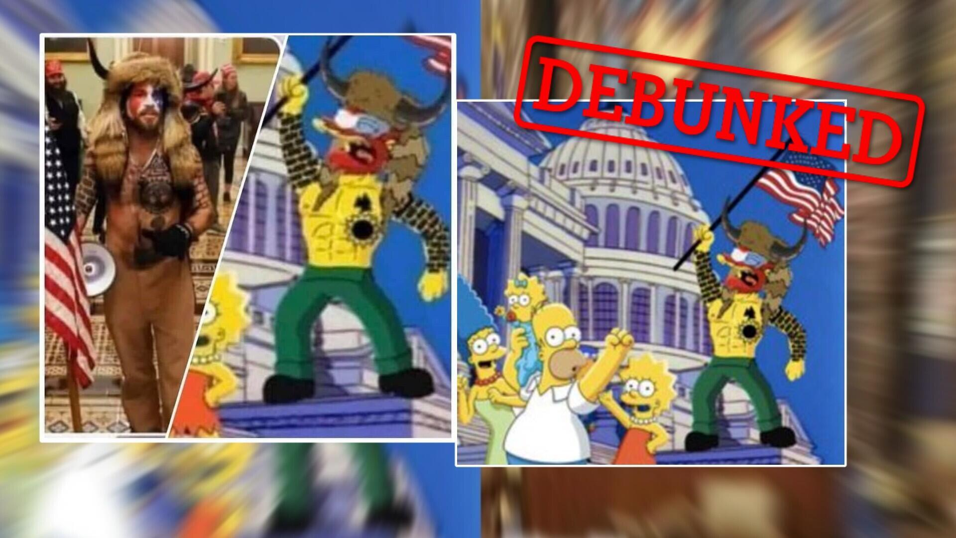 Social media users have been sharing these images widely, claiming that The Simpsons predicted the riots at the Capitol, Washington, D.C. that took place on January 6, 2021.