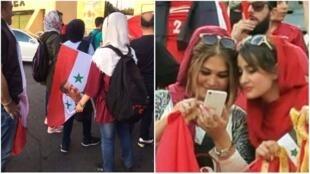 السلطات الإيرانية سمحت للمشجعات السوريات بحضور المباراة التي جمعت منتخب بلادهن بمنتخب إيران في طهران في 5 سبتمبر/أيلول