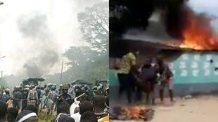 En Côte d'Ivoire, des manifestations contre la candidature d'Alassane Ouattara ont dégénéré en affrontements violents. Capture d'écran.