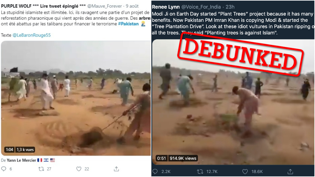 """People were circulating a series of videos online, claiming that they showed Pakistani extremists uprooting trees that they thought were """"un-Islamic"""". Turns out, that's not the real story."""