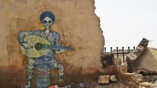 """""""Fuck war"""" (""""merde à la guerre""""), une des œuvres de Murad Subay qui a fait le plus réagir."""