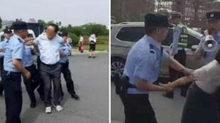 Professors in the city of Lu'an were brutally arrested by the police during a protest.