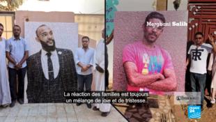 Mirghani Salih et son frère fabriquent des mosaïques géantes pour rendre hommage aux victimes de la répression militaire au Soudan. Capture d'écran / Les Observateurs de France 24.