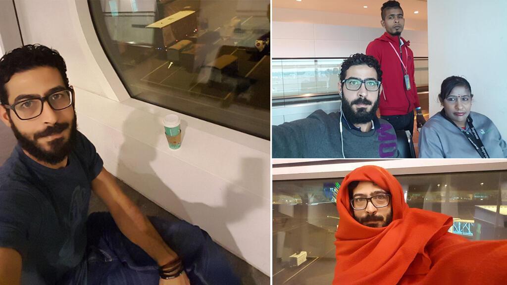 هذه الصور التقطها حسان القنطار في منطقة العبور في مطار كوالالمبور.
