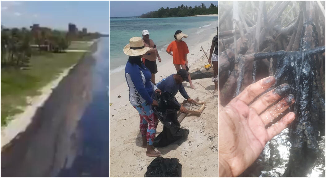 Une importante marée noire touche les États de Falcón et Carabobo, dans le nord-ouest du Venezuela, depuis fin juilllet. Images diffusées sur Twitter.