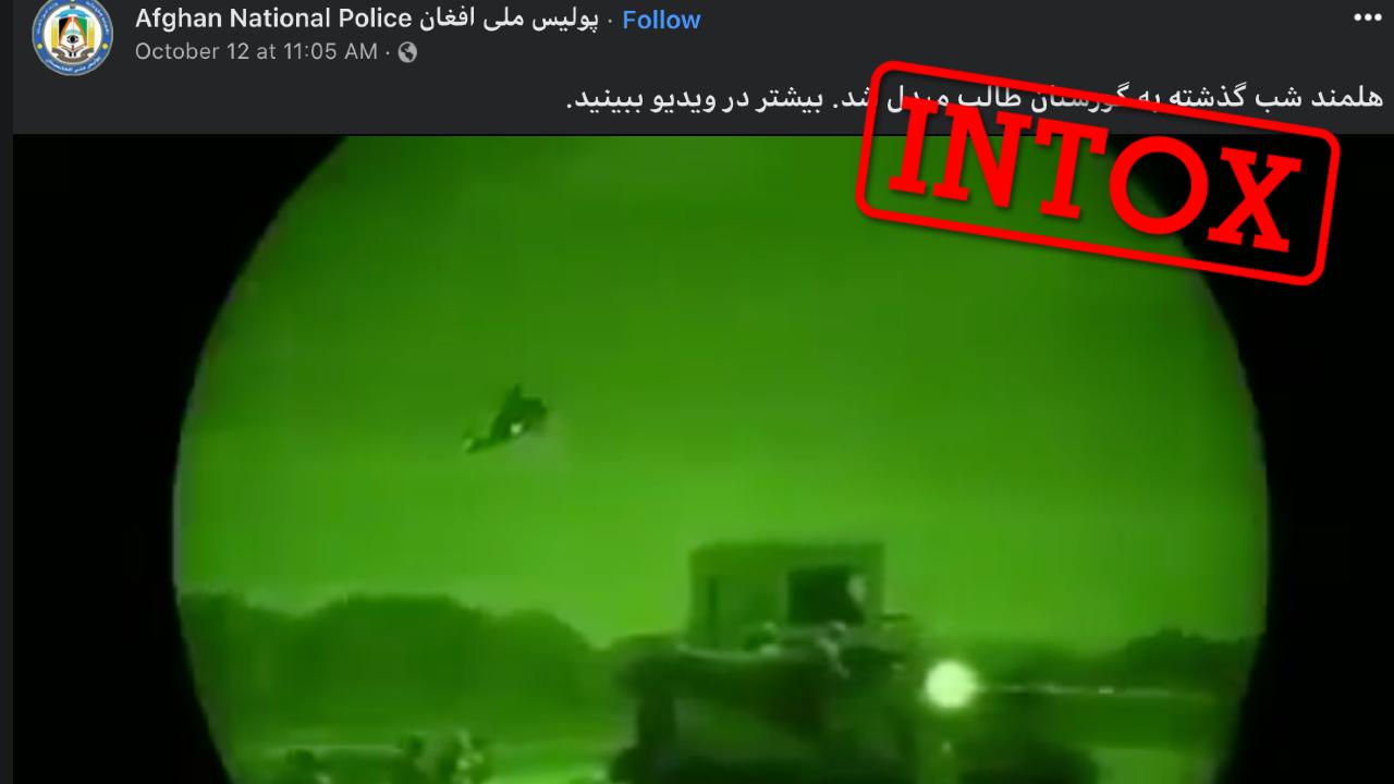 La police afghane a publié cette vidéo montrant supposément une attaque de l'armée afghane contre les Taliban... sauf qu'il s'agit d'un exercice de l'armée américaine aux États-Unis datant de 2017.