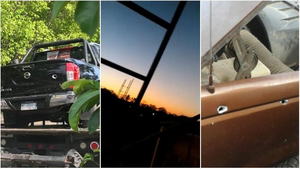 Photos et capture d'écran d'une vidéo, prises entre le 27 et le 31 mai à Parácuaro, dans l'État du Michoacán, au Mexique.