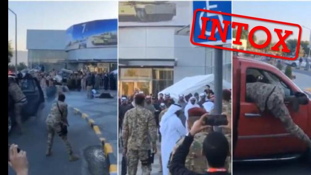 La vidéo qui a circulé sur les réseaux sociaux ne montre pas une tentative d'assassinat mais un exercice militaire