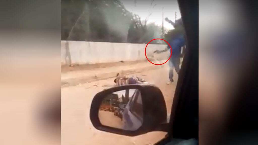 Screengrab of a video filmed in the southern part of Luanda on June 1.