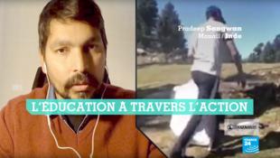 Pradeep Sangwan a fondé l'organisation Healing Himalayas en 2016. Crédit : capture d'écran / Les Observateurs - YouTube.