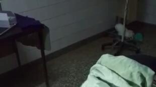 صور مثبتة من مقطع فيديو يظهر عملية طبية على امرأة تعرضت للاغتصاب على يد مجموعة من الجنود الأريتيريين، التقط في مستشفى أديغرات يوم 21 شباط/ فبراير 2021. صورية دي أي