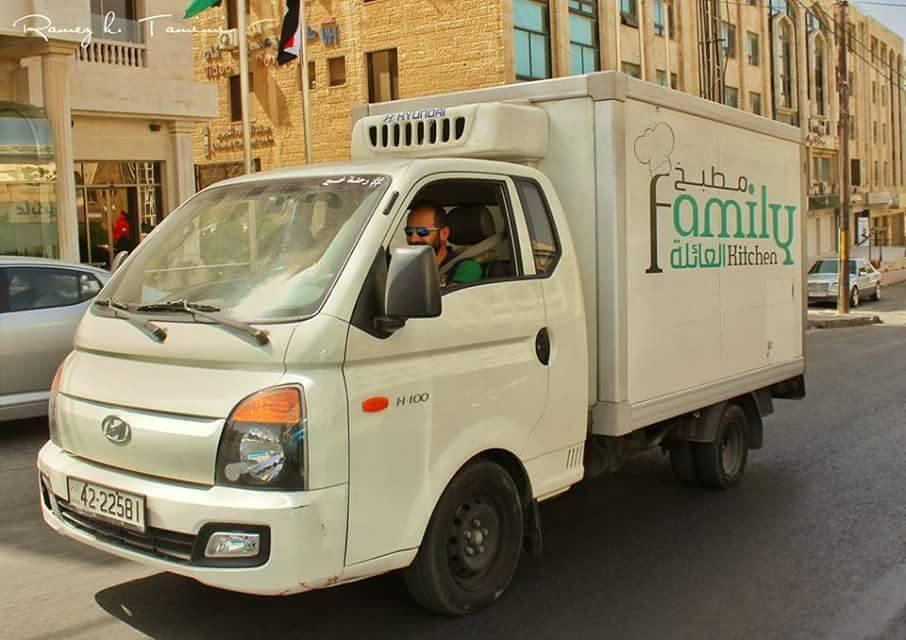 Photo of a refrigerated truck belonging to the NGO Family Kitchen. (Photo posted on Facebook)