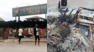 A Divo dans le sud-ouest de la Côte d'Ivoire, des manifestations ont dégénéré le 22 août en affrontements meurtriers. Capture d'écran.