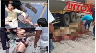 De nombreuses images concernant les Ouïghours sont partagées sur les réseaux sociaux. Elles sont parfois fausses ou imprécises.