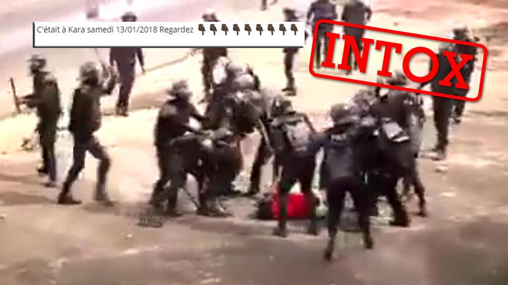 La rédaction des Observateurs a reçu a de nombreuses reprises cette vidéo via WhatsApp, d'internautes affirmant que la scène se déroulait à Kara, au Togo, le 13 janvier.