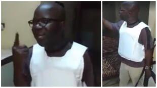 Simon Compaoré au domicile d'un député démissionnaire de l'opposition. Capture d'écran de la vidéo publiée sur Facebook.