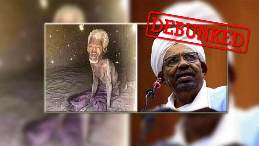 Social media users claimed that the man on the left was a prisoner of Sudan's former president Omar al-Bashir for 24 years. It turns out, that's not true.
