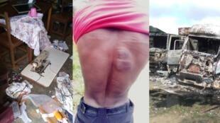 Images prises par notre Observateur mercredi 22 octobre, et qui montre l'étendue des violences à Dabou, à l'ouest de la Côte d'Ivoire.