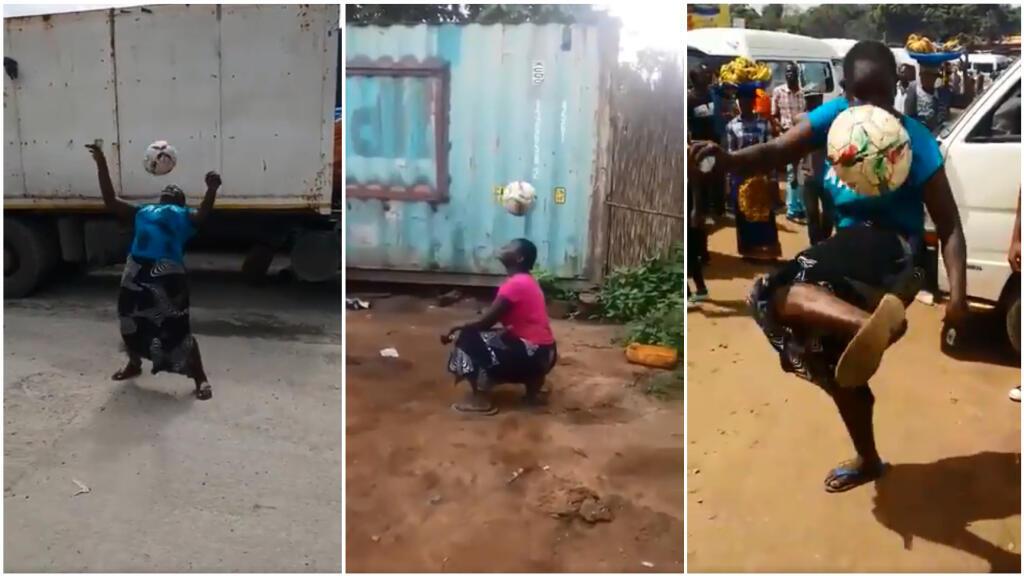 Captures d'écran de vidéos montrant les figures d'Hadhara Charles Mjeje, publiées sur Twitter.