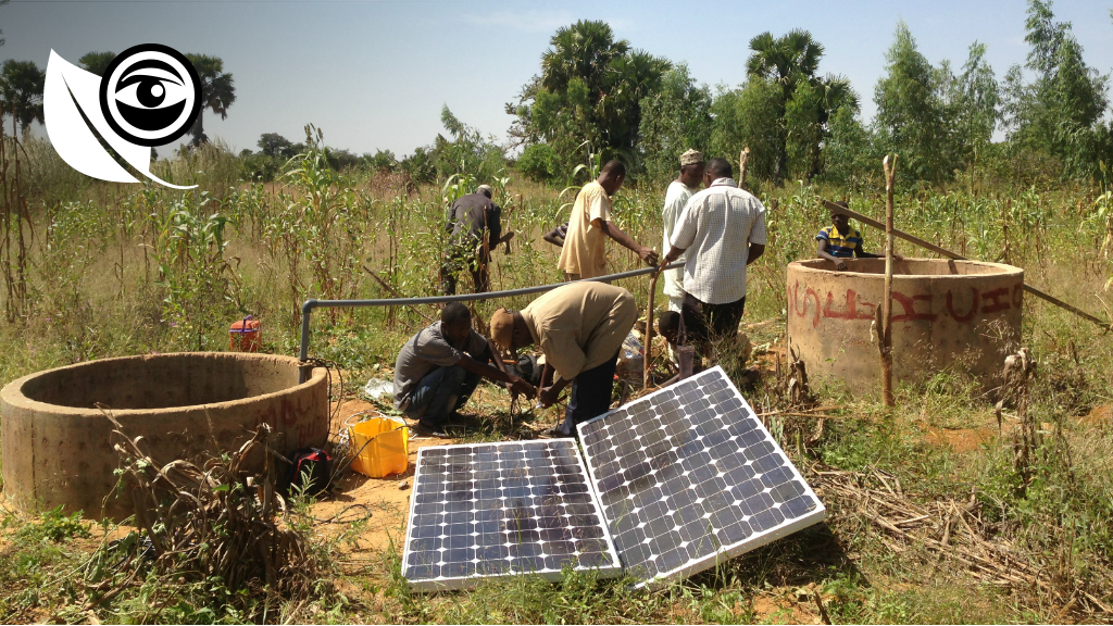 """A team installed the """"remote irrigation"""" system on this farm. All of the photos were provided by Abdou Maman Kané."""