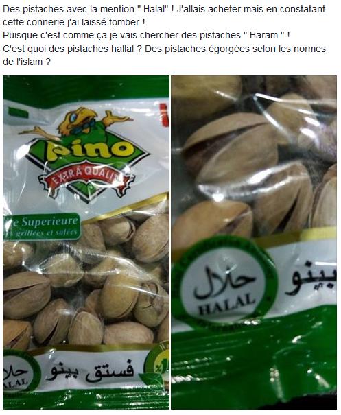Photo d'un sachet de pistaches halal vendues en Algérie. Source: Idir Tazerout