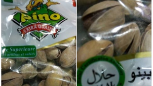 Photo d'un sachet de pistaches halal vendues en Algérie. Source: Idir Tazerout
