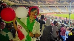 A female fan in the Azadi stadium in Tehran on June 20, 2018.