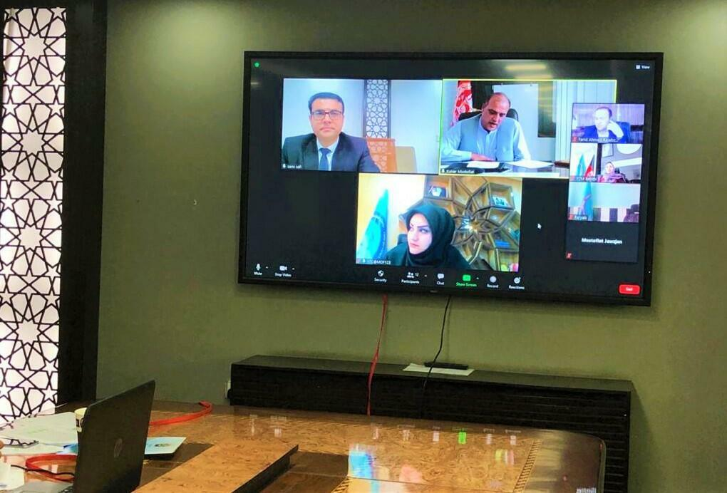 Photo posted on the Afghan General Department of Revenue Facebook account on October, 10 2020 during a video conference with local offices.