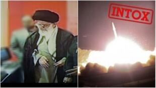 De nombreuses images fausses des missiles et d'Ali Khamenei ont circulé après le lancement de missiles par l'Iran sur des bases américaines en Irak.