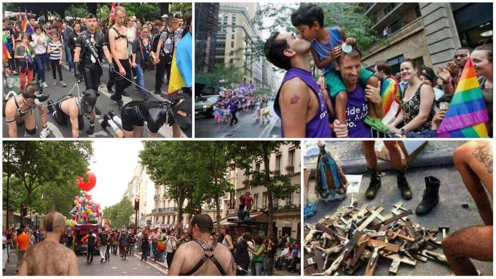 """Plusieurs internautes et mouvements d'extrême droite ont relayé sur les réseaux sociaux des photos hors contexte pour dénoncer une marche """"honteuse""""."""