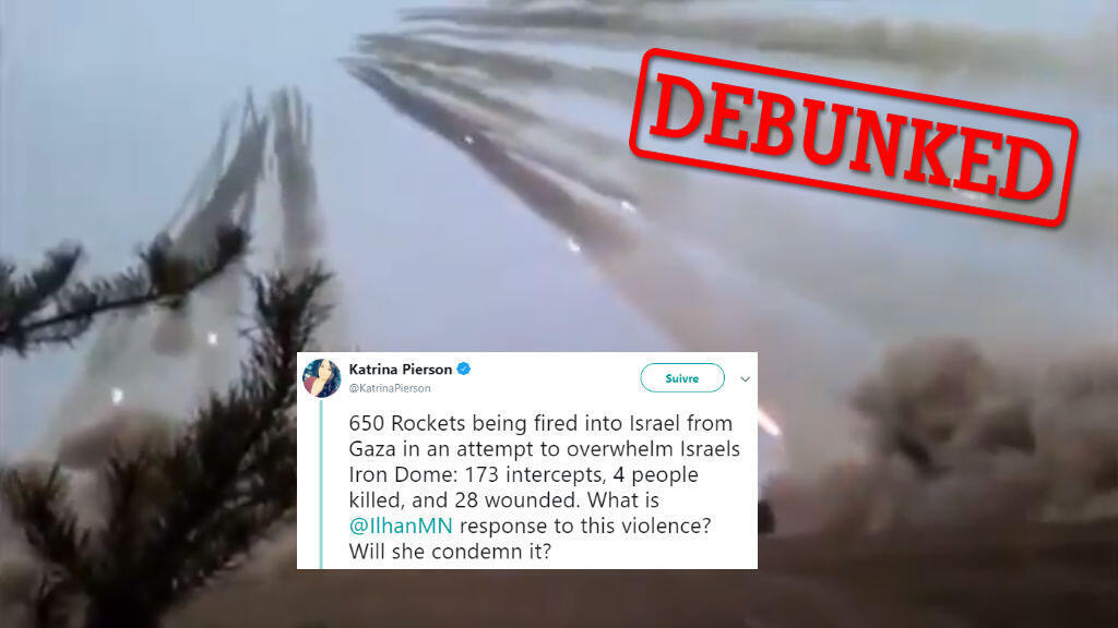 Trump campaign advisor Katrina Pierson used an old video, which was originally filmed in Belarus, in a tweet about the Gaza attacks.