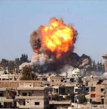 Troisième image partagée autour des bombardements à Deraa le 31 août 2021.