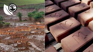 Des briques faites de boue, c'est la solution trouvée par des habitants de Mariana au Brésil pour reconstruire les maisons détruites par la coulée dévastatrice de novembre 2015.