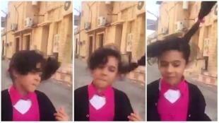 La petite écolière d'Al Ahsa dont la danse est devenue virale.