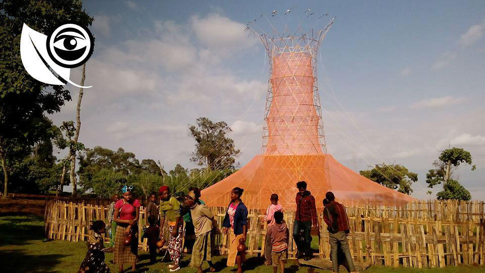 The first Warka tower was built in 2015, in Ethiopia. Photo courtesy of Warka Water.
