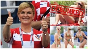 On the left, the Croatian president. On the right, not the Croatian president.