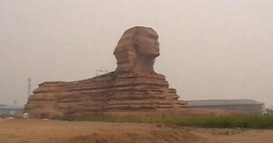 Image du Sphinx en Chine postée sur Twitter