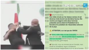 Une vidéo très partagée prétendait montrer une bagarre entre le président somalien et le président de l'assemblée nationale somalienne.
