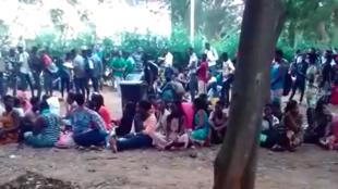 Des centaines d'étudiants font la queue pour s'inscrire à l'université de Lomé, le 3 décembre 2018. Vidéo envoyée par un de nos Observateurs via WhatsApp.