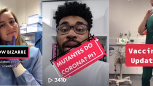 مبادرة #تيم_هالو التي تجمع علماء متخصصين في وباء كوفيد-19 يقومون بالتوعية بخصوص اللقاحات على تطبيقات تيك توك وإنستاغرام وتويتر. صورة من تيك توك.