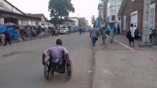 Capture d'écran de la vidéo ci-dessous, tournée par Fatoumata Chérif.