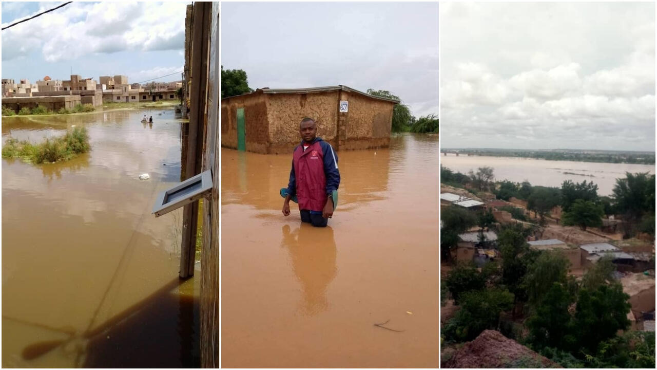Photos d'inondations en Afrique de l'Ouest envoyées par nos Observateurs : Keur Massar (Sénégal), Ouagadougou (Burkina Faso), Niamey (Niger).