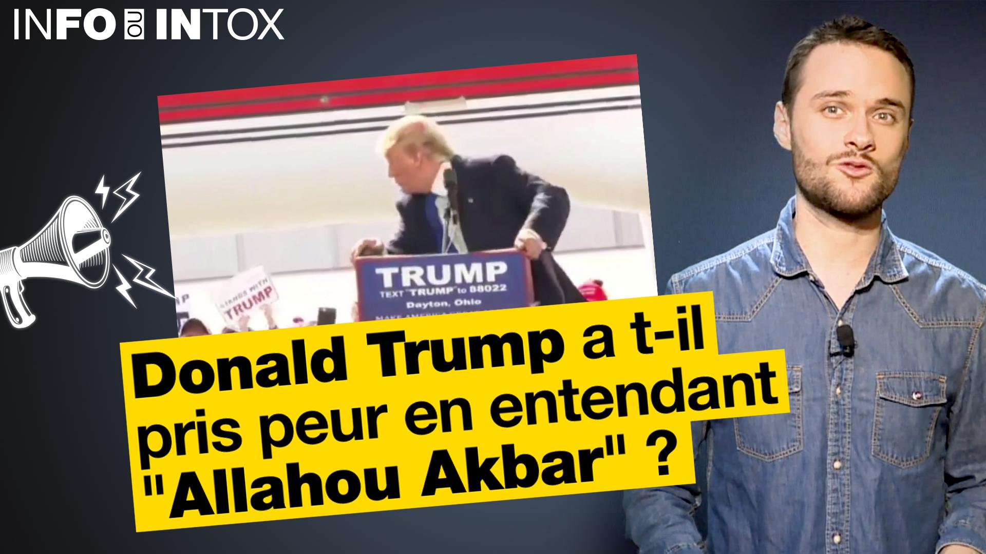 Le président américain qui s'enfuit en entendant quelqu'un crier Allahou Akbar ? Une vidéo dont le son a été trafiqué...