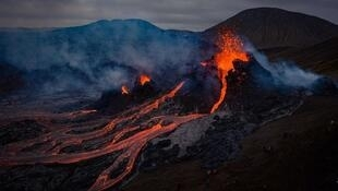 Locals who went to see the Icelandic volcano that erupted on March 20, 2021 posted stunning images on social media.