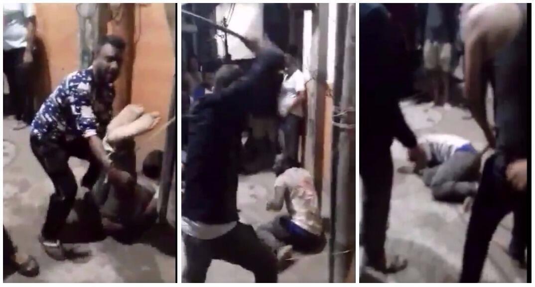 Captures d'écran de la vidéo de l'agression, diffusée sur Twitter.