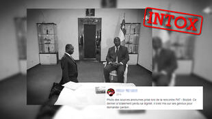 L'ex-président de la Centrafrique François Bozizé s'est il agenouillé devant l'actuel, Faustin-Archange Touadéra?