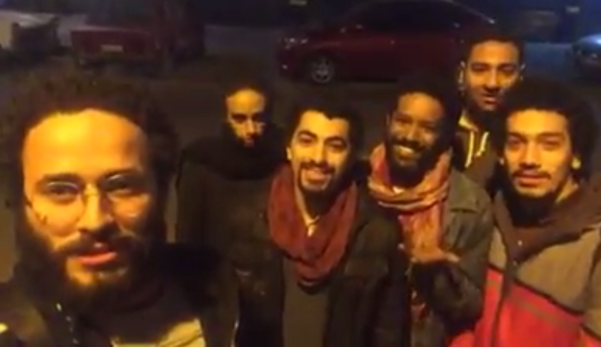 """Screengrab of the video posted by the """"Street Kids"""" troupe on January 9, 2017."""