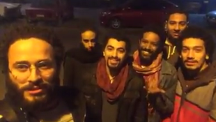 "Screengrab of the video posted by the ""Street Kids"" troupe on January 9, 2017."